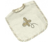 Be Be's Collection 745-28 Klett -Lätzchen 30x40cm Butterfly ecru/braun