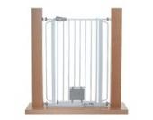 Original IMPAG® Treppen und Tür-Schutzgitter Nala |75 -149 cm | Extrahoch 105 cm | Speziell für Hunde und Katzen | Katzenklappe | 4 Farben | Sicherheitsgeprüft 1930:2011