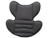 Babyschale, Kinderautositz, Autositz, Kindersitz, Baby, Gruppe 0+, ab Geburt bis ca. 15 Monate, 0-13 kg, ECE-R44/04, Babyblume TULIP, grau-schwarz