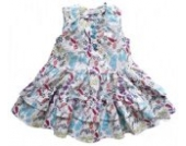 Tricky Tracks Baby Mädchen Kleid/Sommerkleid,weiß/multicolor,Größe 80
