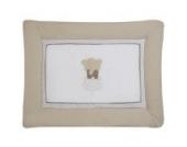Schardt Krabbeldecke mit Stickerei 100x135 cm kleiner Elefant beige