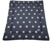 Laufgittereinlage Sterne gestrickt 100 x 85 cm, Anthrazit/Grau