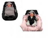 Hobea Decke für Kindersitz/Babyschale, Berry Pink