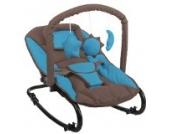 Komfort Baby Wippe Babywippe mit Spielbogen blau braun