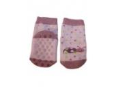 Weri Spezials Noppen-ABS-Socken-Frotee-Sohle, leichte ABS-Beschicltung in Flieder, Gr.13-14 (0-3 Monate)