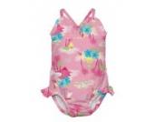 i Play. Badeanzug Schwimm- / Badewindel / Badewindel-Anzug Tanksuit girl´s classic Hawai Insel rosa Gr. M = 12 Monate / 8 - 10 Kg