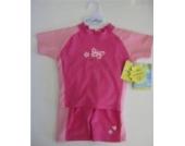 I-Play 2-teilige Sonnenschutzkleidung UPF 50+ mit Schwimmwindeleinsatz pink/rosa 24 months ca. 11,5-13,5 kg