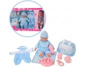 Simba Puppenset Babypuppe 30 cm mit Zubehör Junge (Blau) [Kinderspielzeug]