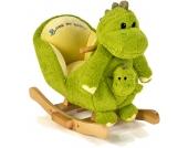 Knorrtoys Schaukeltier Dino David mit Handpuppe (Grün) [Kinderspielzeug]