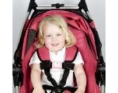 Belt Up Kids Anschnallgurt für Kinder, Schulterngurt mit Rosa Schnalle