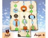 Best For Kids BESONDERE KUSCHELWEICHE Wickelauflage mit TÜV 100% Baumwolle Wickeltischauflage 3 in 1 in 3 Größe 70x70 mit Öko Tex Standart