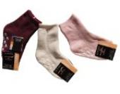 3 Paar Kinder ABS Socken/Söckchen Gr. 98/104 Beige/Rosa/Weinrot