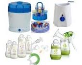 MAM Set 9 - Startset - Flaschen Sterilisator Babykoster Milchpumpe 25 teilig - Ivory + gratis Schmusetuch Löwe Leo