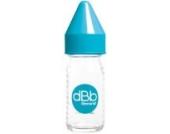 dBb-Remond 120149 Fläschchen Glas Silikon mit Régul'Air-System für Neugeborene Türkis