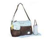 GMMH 3 tlg Baby Farbe Wickeltasche Pflegetasche Windeltasche Babytasche Reise Farbauswahl (blau braun)