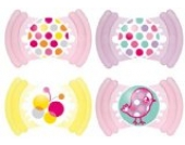 MAM 302422 - Soft Latex 16+, Schnuller, Doppelpackung, für Mädchen