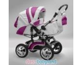 Akjax Traper Kombikinderwagen - Kinderwagen - Buggy Farbe Nr.23 weiss / pink